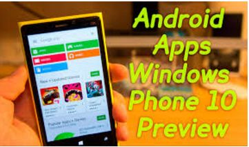 Google Play Store for Windows phone 10
